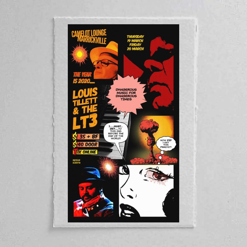 Louis Tillet Retro Style Wallpaper Poster - Pink Eye