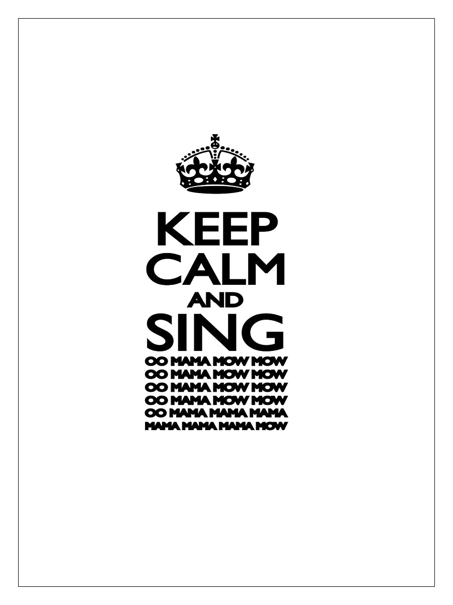 RUSSELL MORRIS Keep Calm and Sing Tea Towel