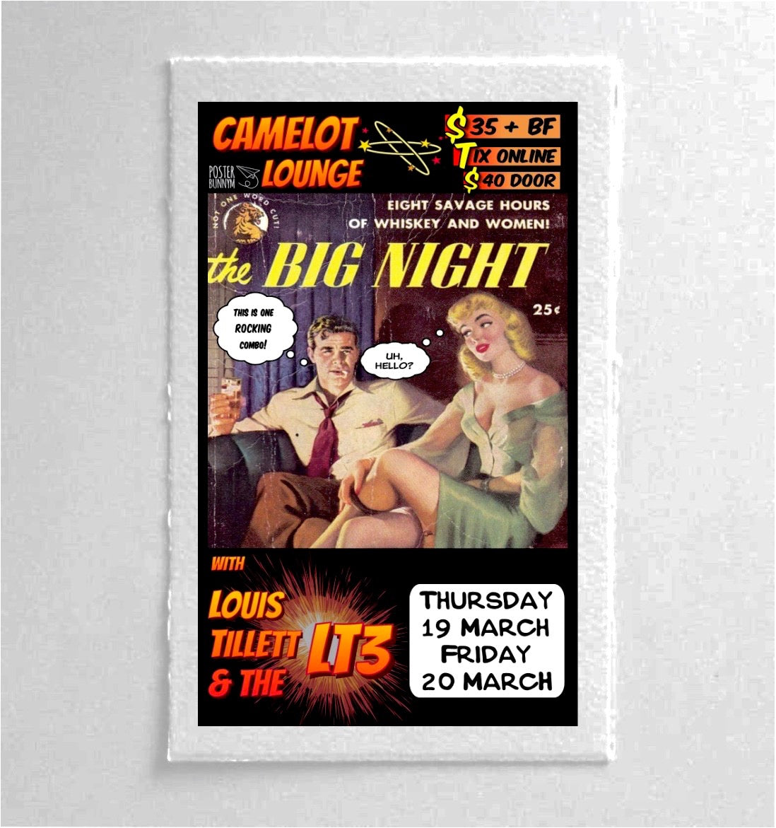 Louis Tillet Retro Style Wallpaper Poster - The Big Night