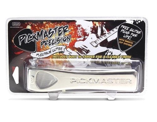 PICKMASTER Plectrum / Pick Cutter w/ Built in Sander NEVER PAY FOR GUITAR PICK Again!