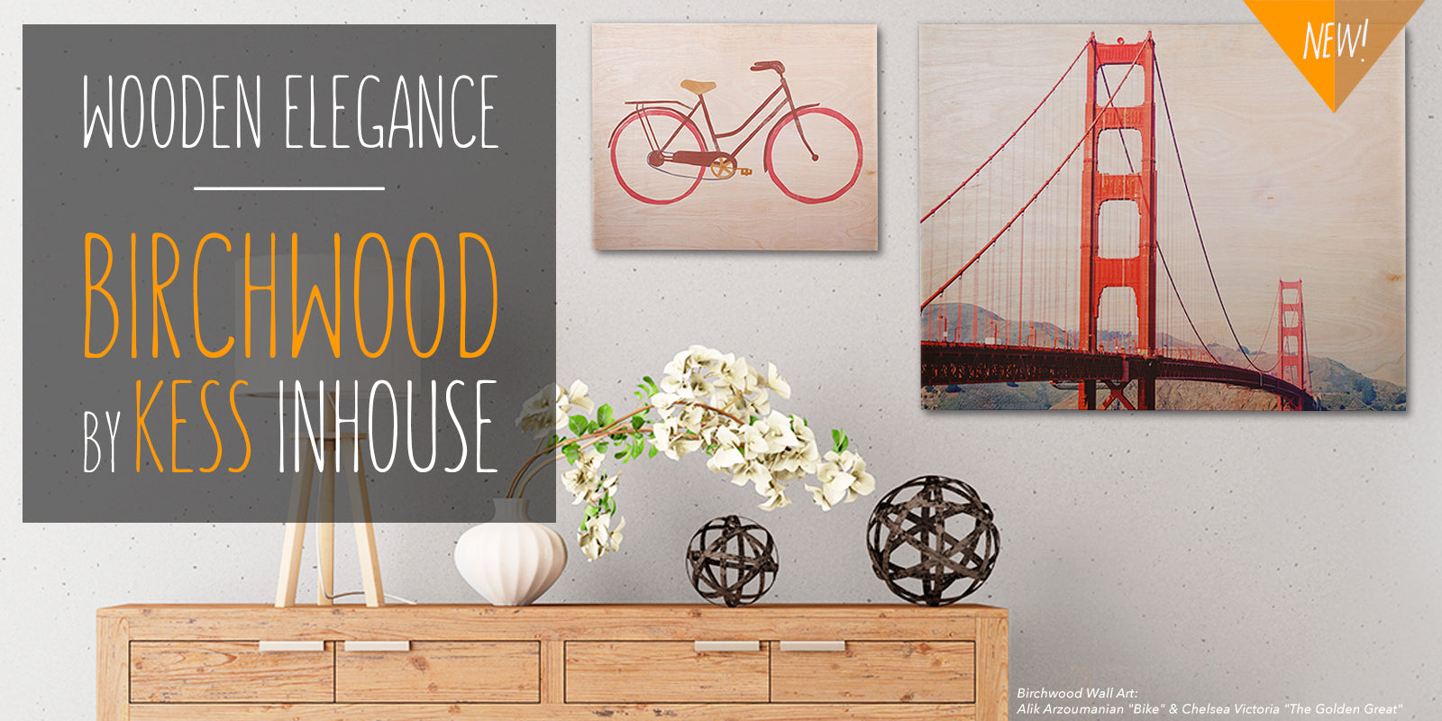 KESS InHouse Birchwood Wall Art