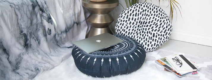 Round Floor Pillows