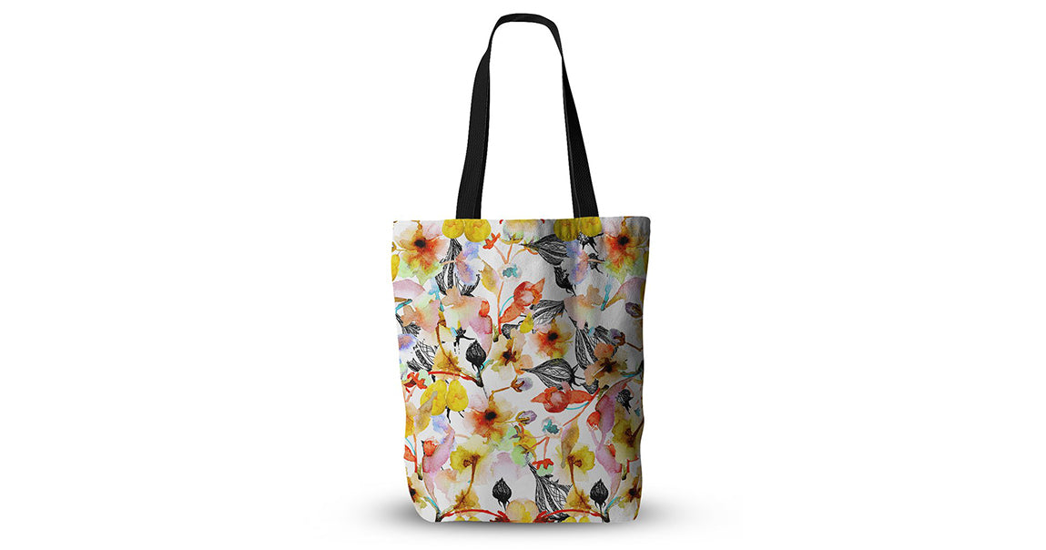 Blossoms Floral Tote Bag
