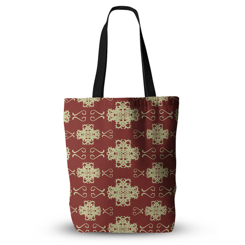 "Mydeas ""Asian Motif Damask"" Tote Bag - Outlet Item"