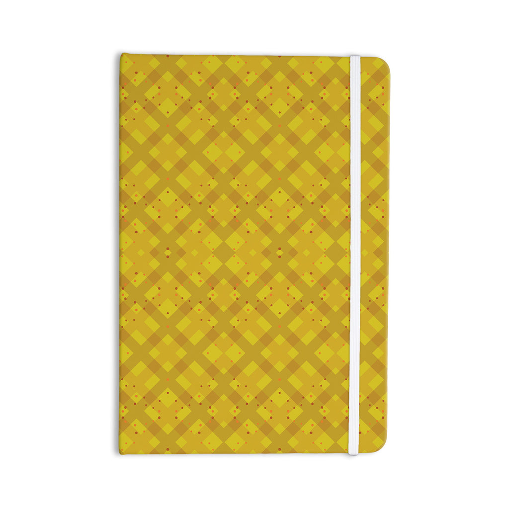 "Mydeas ""Dotted Plaid"" Geometric Yellow Everything Notebook - KESS InHouse  - 1"