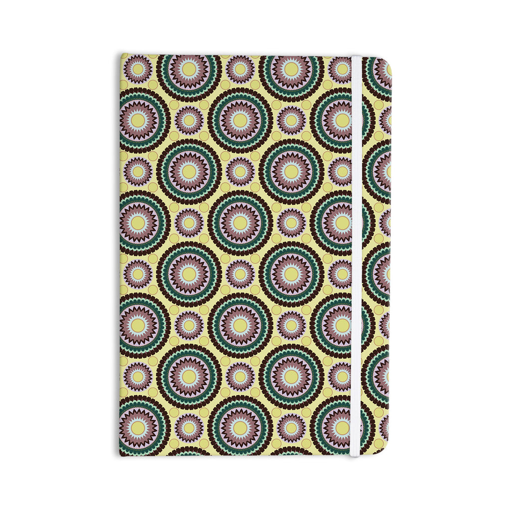"Mydeas ""Patio Decor"" Yellow Teal Everything Notebook - KESS InHouse  - 1"
