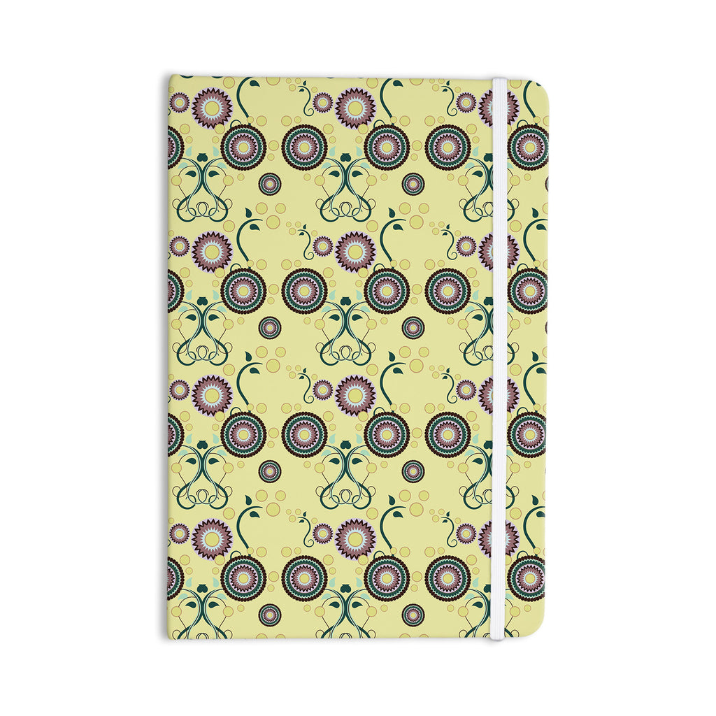 "Mydeas ""Spring Florals"" Yellow Multicolor Everything Notebook - KESS InHouse  - 1"