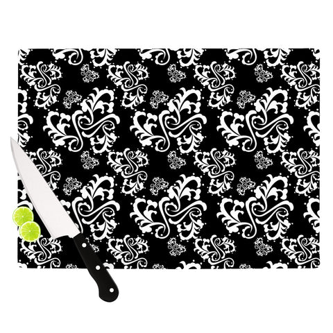 "Mydeas ""Sweetheart Damask"" Pattern Cutting Board - Outlet Item"