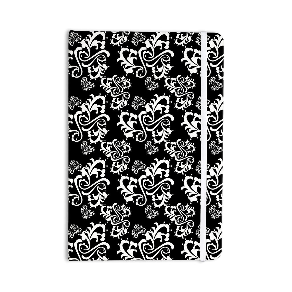 "Mydeas ""Sweetheart Damask Black & White"" Pattern Everything Notebook - KESS InHouse  - 1"