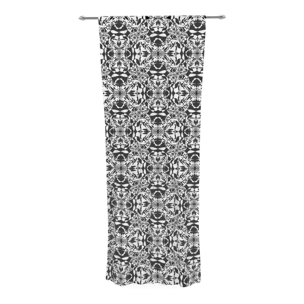 "Mydeas ""Diamond Illusion Damask Black & White"" Pattern Decorative Sheer Curtain - KESS InHouse  - 1"