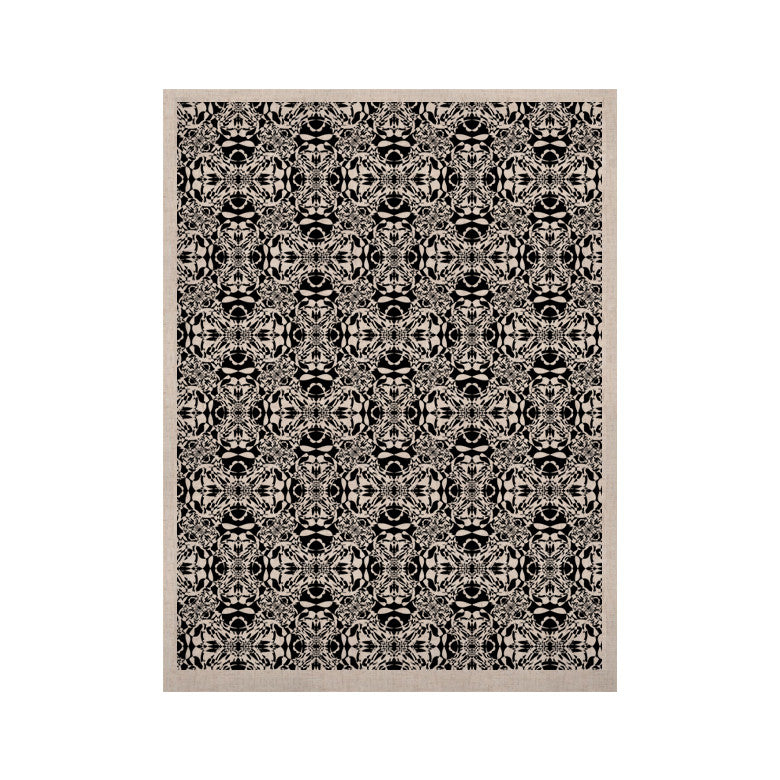 "Mydeas ""Diamond Illusion Damask Black & White"" Pattern KESS Naturals Canvas (Frame not Included) - KESS InHouse  - 1"