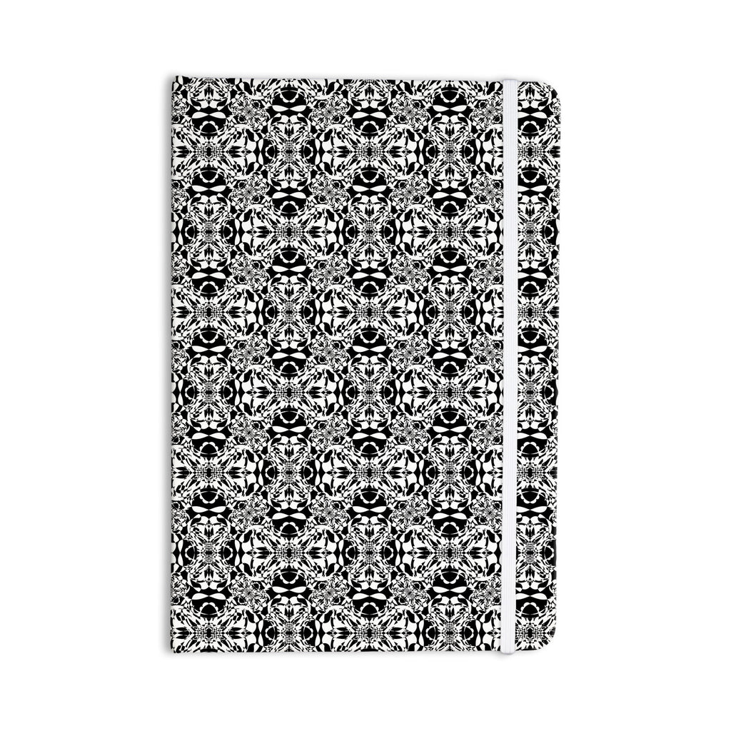 "Mydeas ""Diamond Illusion Damask Black & White"" Pattern Everything Notebook - KESS InHouse  - 1"