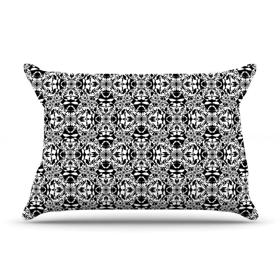 "Mydeas ""Diamond Illusion Damask Black & White"" Pattern Pillow Sham - KESS InHouse"