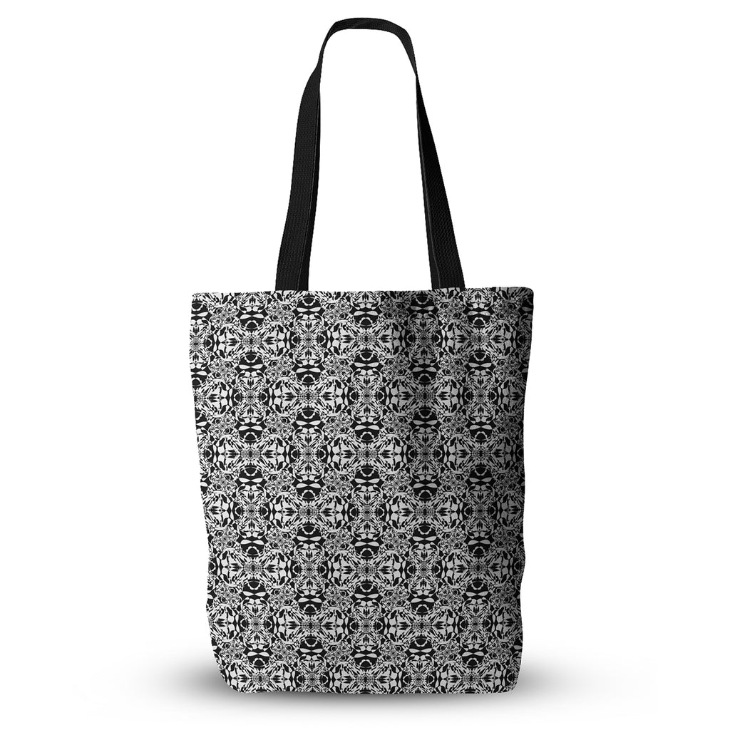 "Mydeas ""Diamond Illusion Damask Black & White"" Pattern Everything Tote Bag - KESS InHouse  - 1"