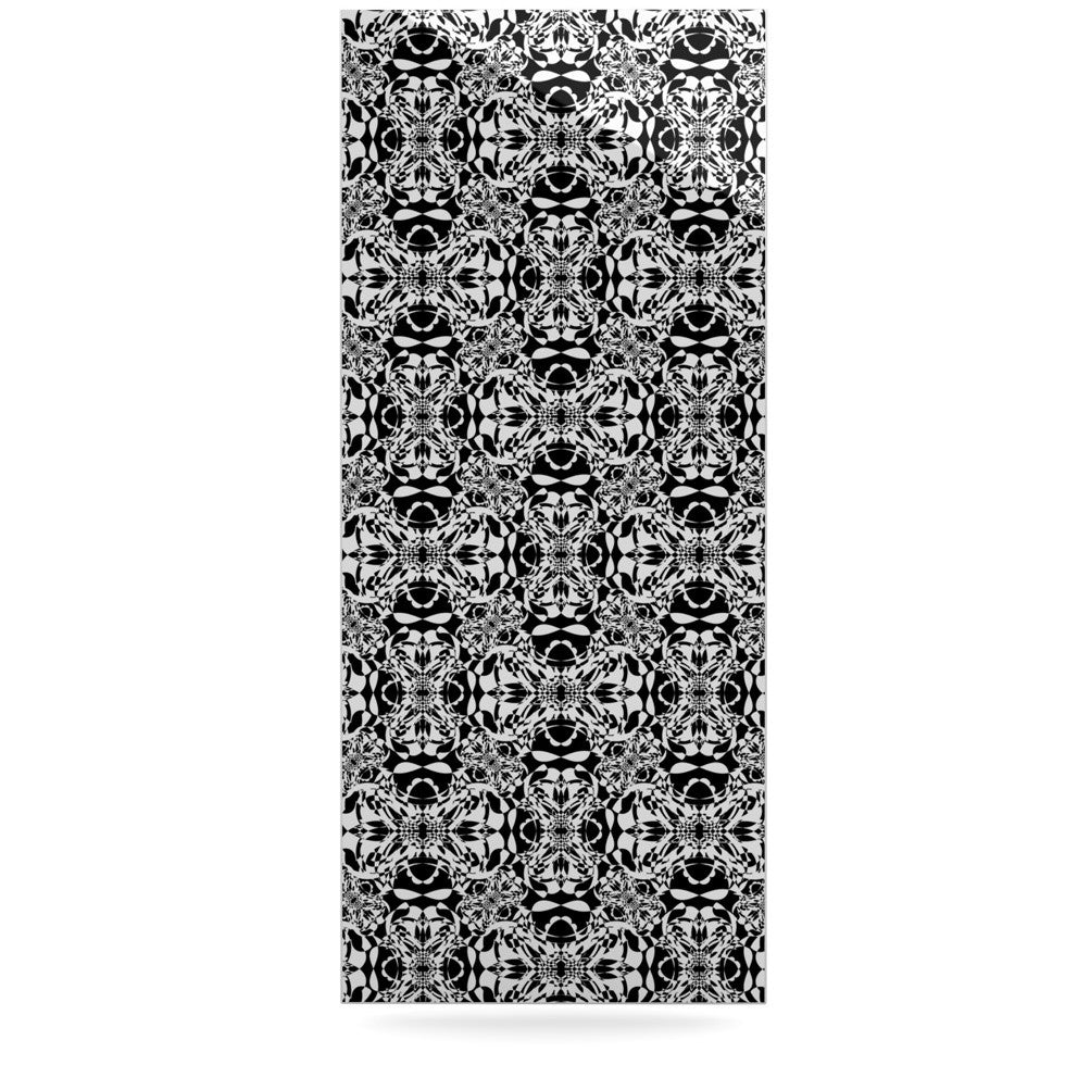 "Mydeas ""Diamond Illusion Damask Black & White"" Pattern Luxe Rectangle Panel - KESS InHouse  - 1"