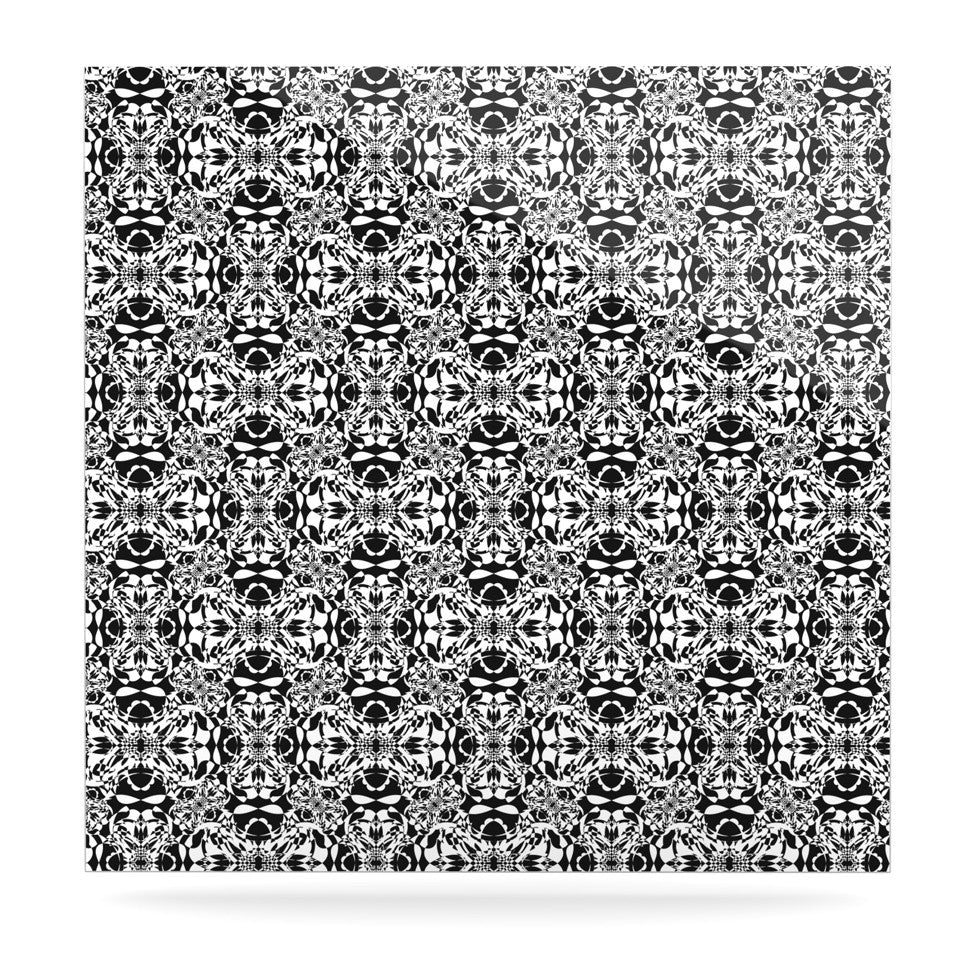 "Mydeas ""Diamond Illusion Damask Black & White"" Pattern Luxe Square Panel - KESS InHouse  - 1"