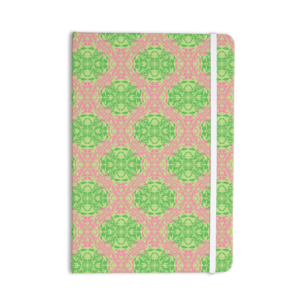 "Mydeas ""Diamond Illusion Damask Watermelon"" Pink Green Everything Notebook - KESS InHouse  - 1"
