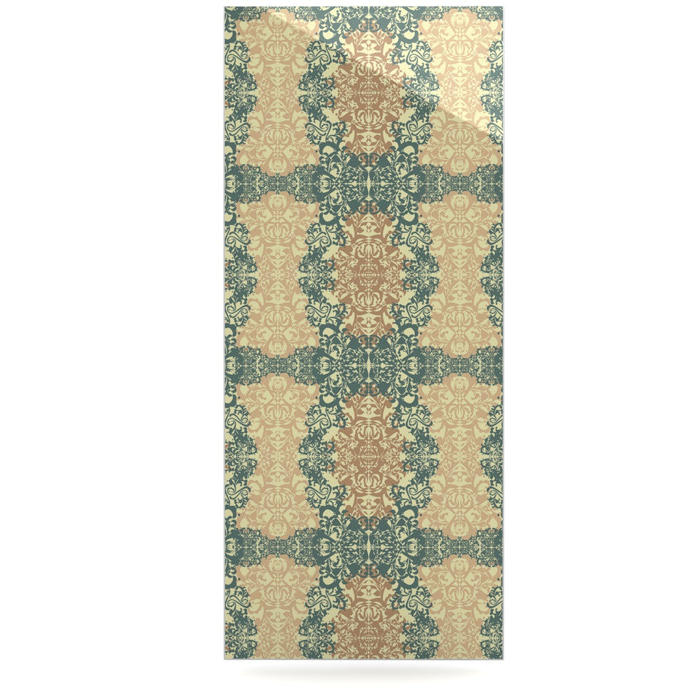 "Mydeas ""Fancy Damask Antique"" Brown Teal Luxe Rectangle Panel - KESS InHouse  - 1"