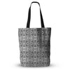 "Mydeas ""Fancy Damask Black & White"" Gray Everything Tote Bag - KESS InHouse  - 1"
