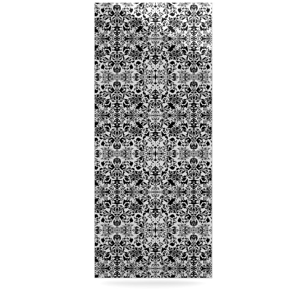 "Mydeas ""Fancy Damask Black & White"" Gray Luxe Rectangle Panel - KESS InHouse  - 1"