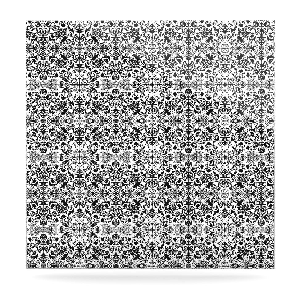"Mydeas ""Fancy Damask Black & White"" Gray Luxe Square Panel - KESS InHouse  - 1"