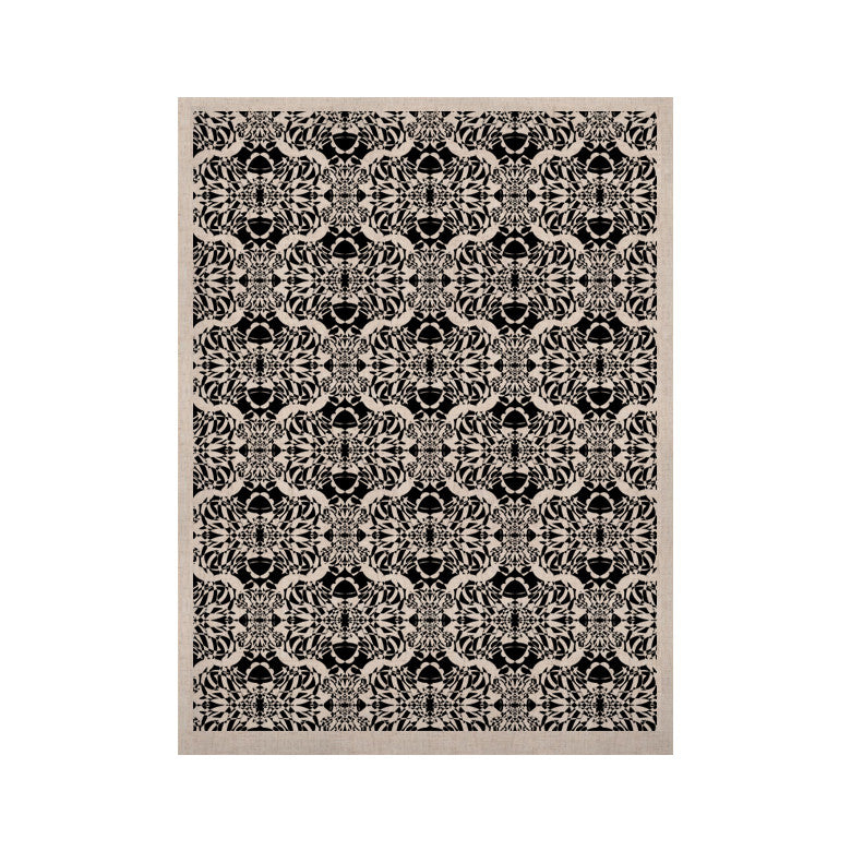 "Mydeas ""Illusion Damask Black & White"" Monochrome KESS Naturals Canvas (Frame not Included) - KESS InHouse  - 1"
