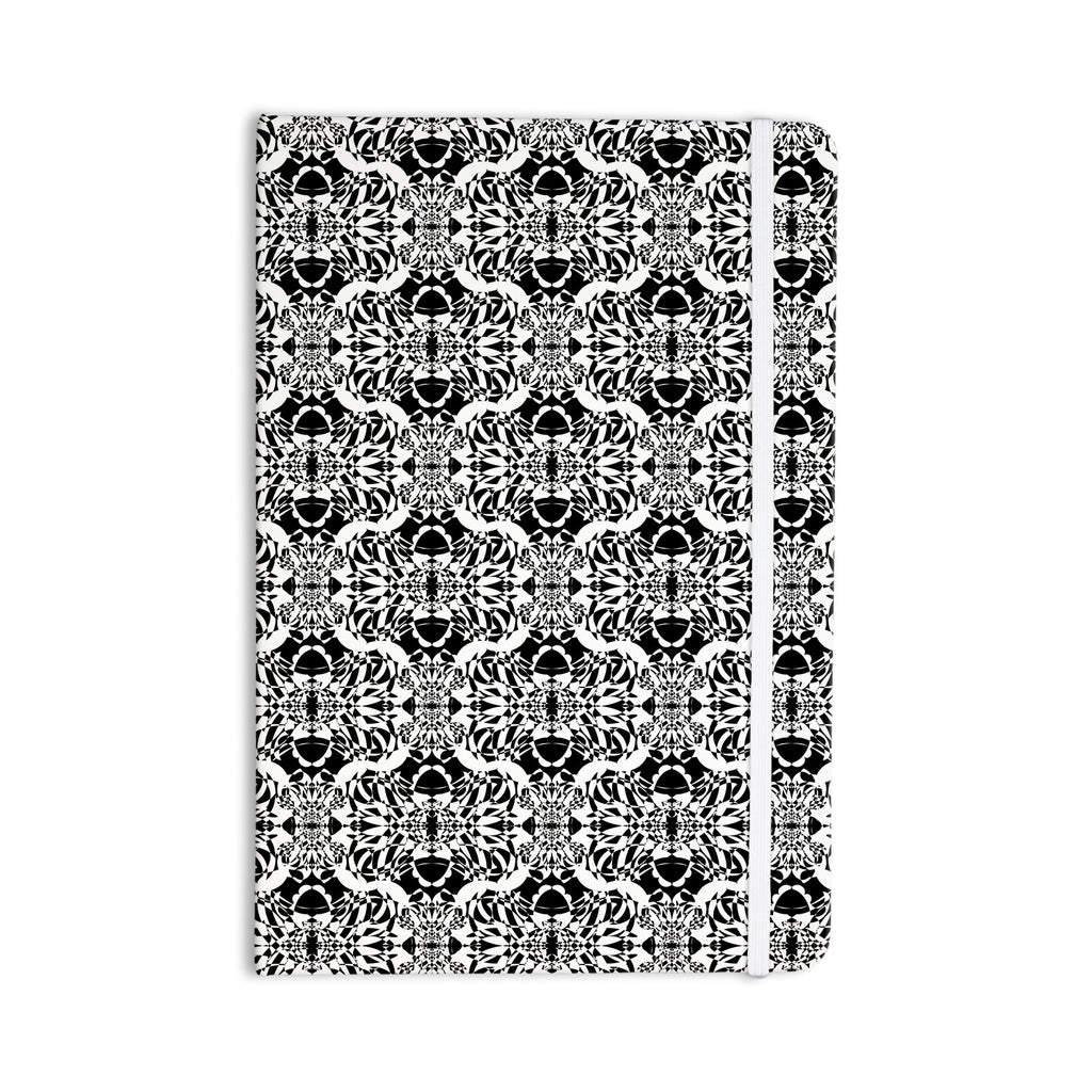 "Mydeas ""Illusion Damask Black & White"" Monochrome Everything Notebook - KESS InHouse  - 1"