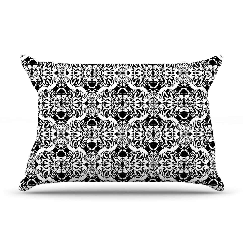 "Mydeas ""Illusion Damask Black & White"" Monochrome Pillow Sham - KESS InHouse"
