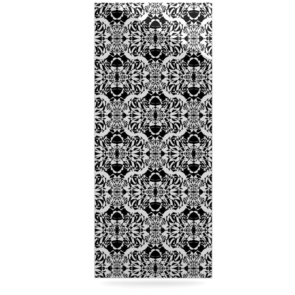"Mydeas ""Illusion Damask Black & White"" Monochrome Luxe Rectangle Panel - KESS InHouse  - 1"