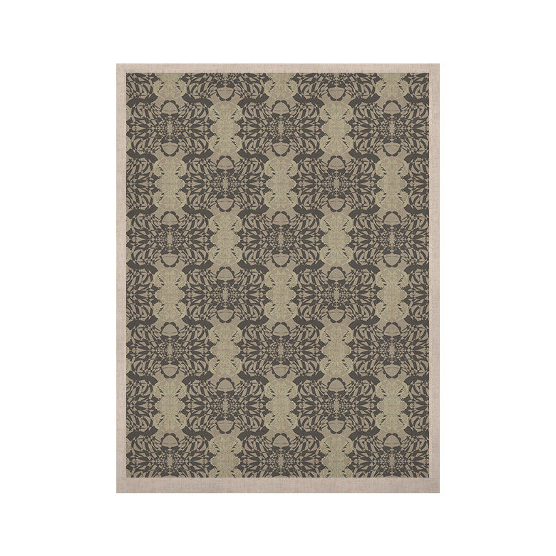 "Mydeas ""Illusion Damask Silver"" Gray KESS Naturals Canvas (Frame not Included) - KESS InHouse  - 1"