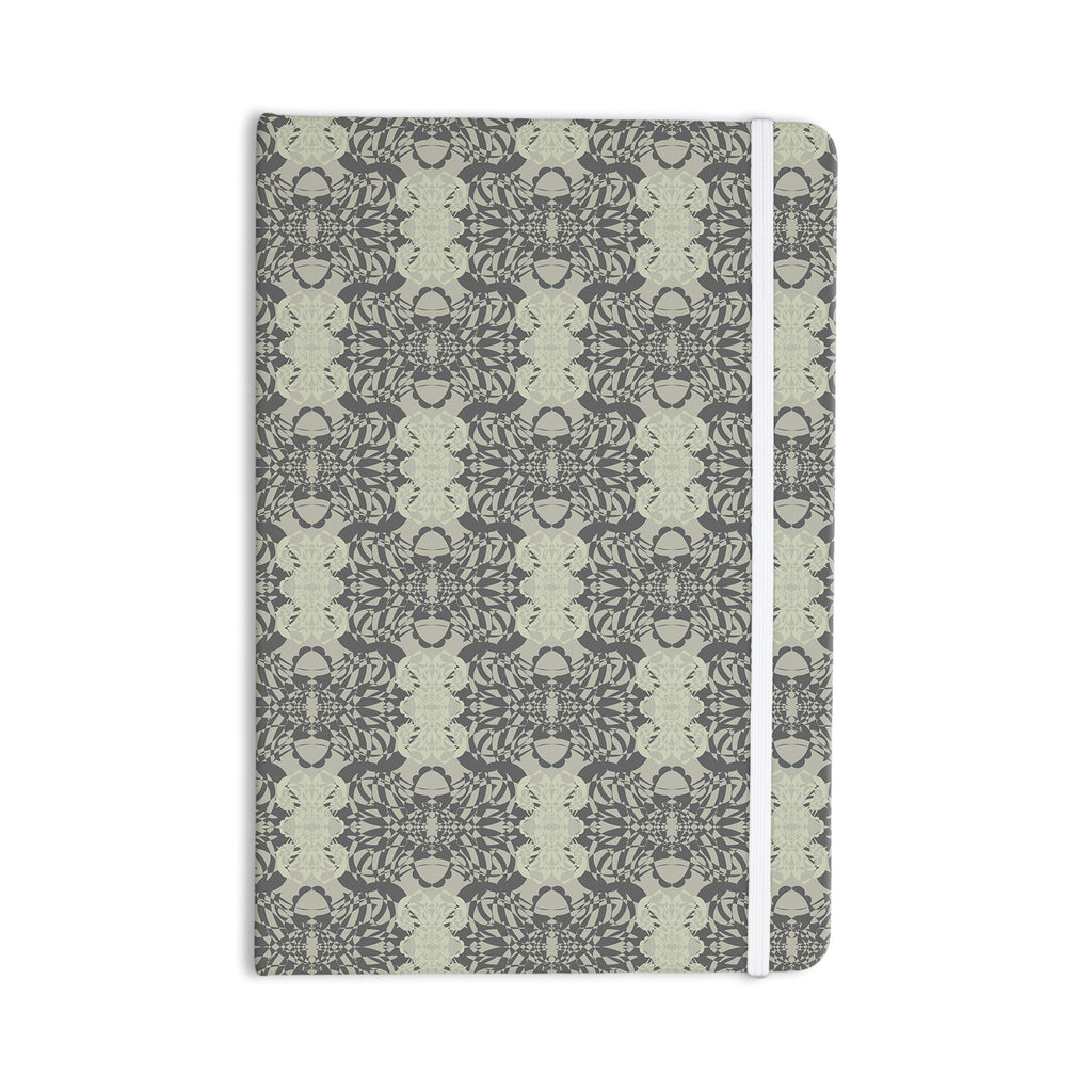 "Mydeas ""Illusion Damask Silver"" Gray Everything Notebook - KESS InHouse  - 1"