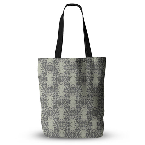 "Mydeas ""Illusion Damask Silver"" Tote Bag - Outlet Item"