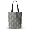 "Mydeas ""Illusion Damask Silver"" Gray Everything Tote Bag - KESS InHouse  - 1"