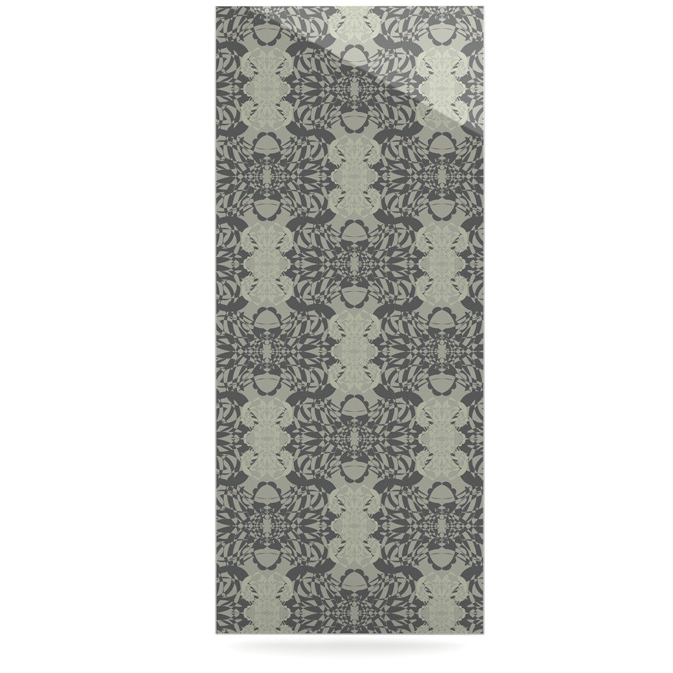 "Mydeas ""Illusion Damask Silver"" Gray Luxe Rectangle Panel - KESS InHouse  - 1"