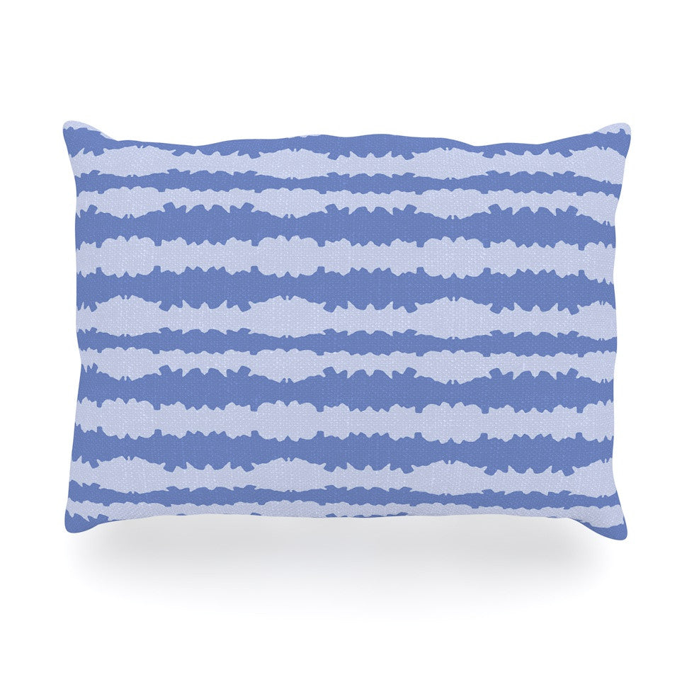 "Mydeas ""Nautical Breeze - Ocean Ripple"" Blue Aqua Oblong Pillow - KESS InHouse"