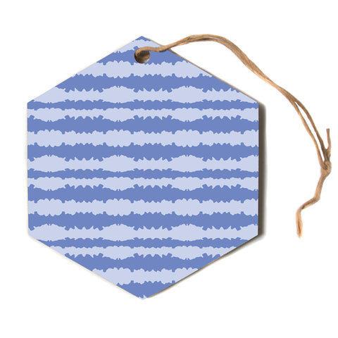 "Mydeas ""Nautical Breeze"" Blue Aqua Hexagon Holiday Ornament"