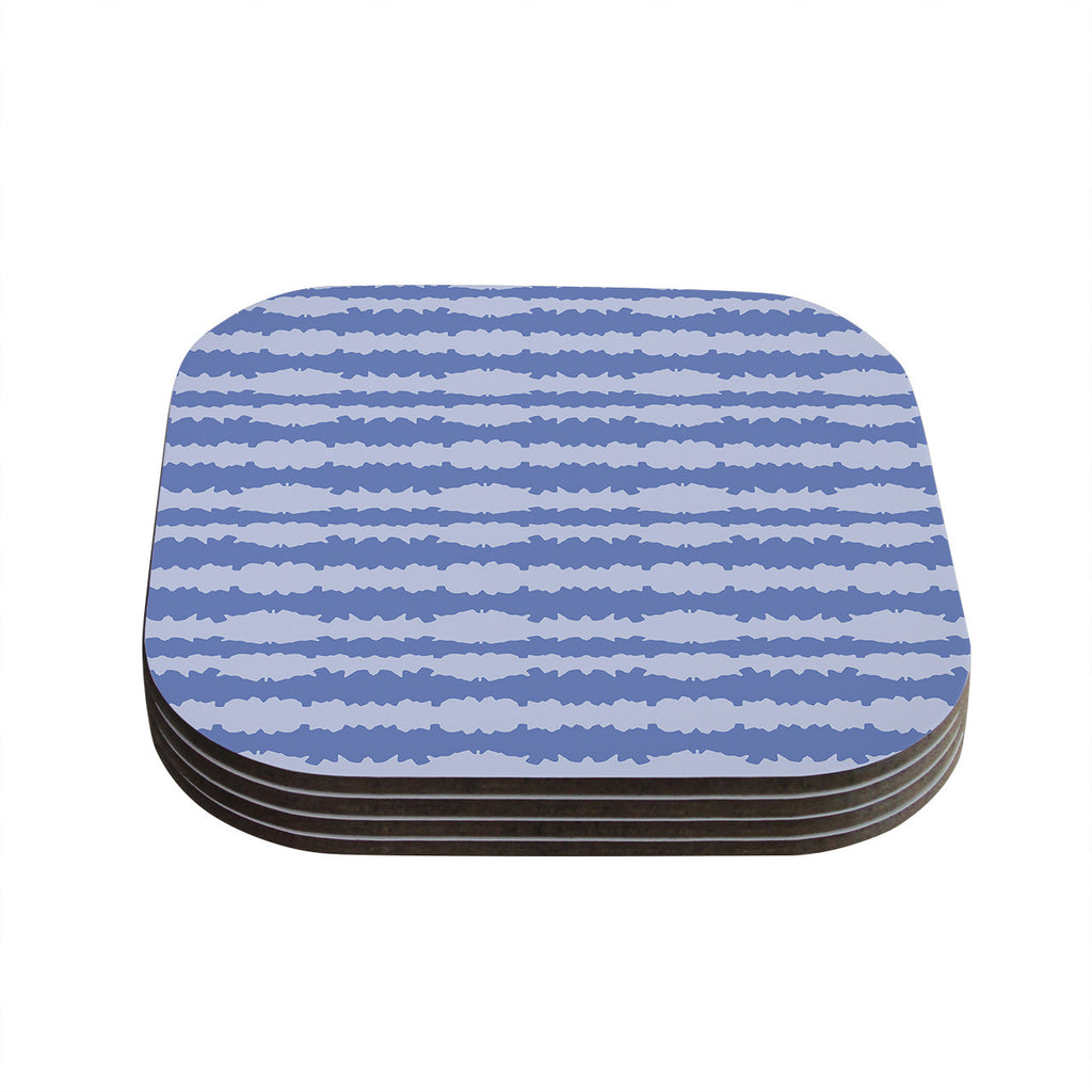 "Mydeas ""Nautical Breeze - Ocean Ripple"" Blue Aqua Coasters (Set of 4)"