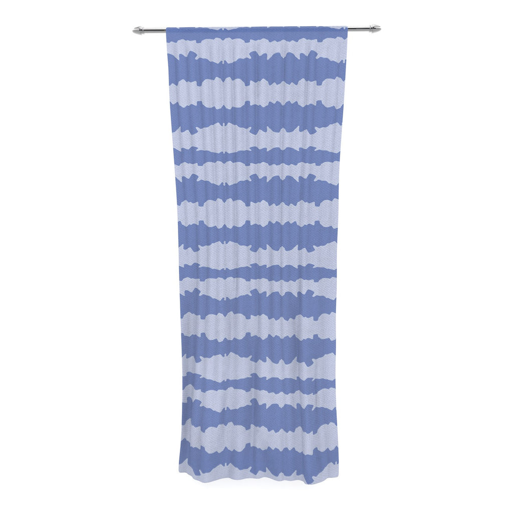 "Mydeas ""Nautical Breeze - Ocean Ripple"" Blue Aqua Decorative Sheer Curtain - KESS InHouse  - 1"