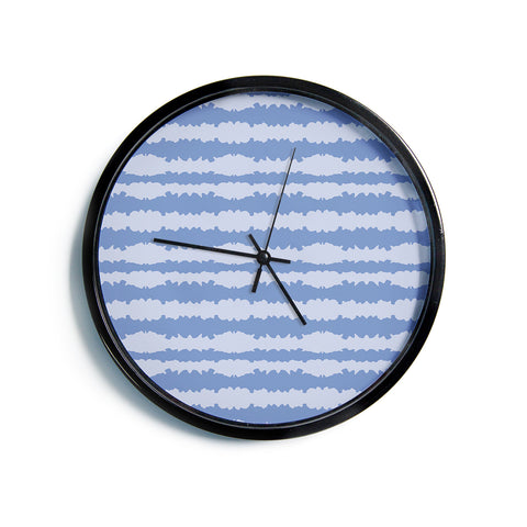 "Mydeas ""Nautical Breeze - Ocean Ripple"" Blue Aqua Modern Wall Clock"