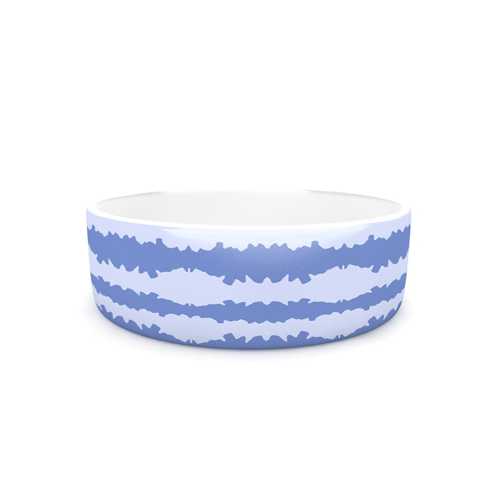 "Mydeas ""Nautical Breeze - Ocean Ripple"" Blue Aqua Pet Bowl - KESS InHouse"
