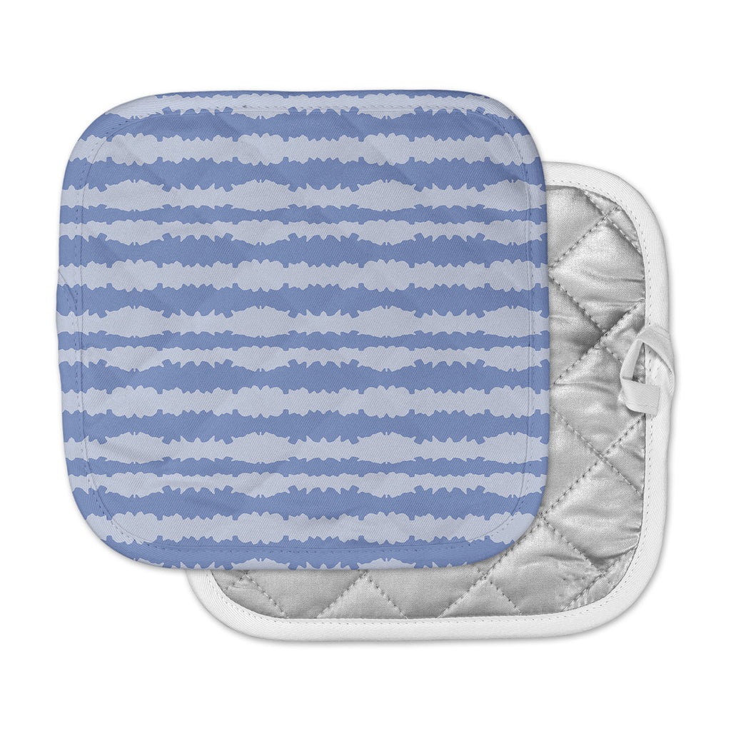 "Mydeas ""Nautical Breeze - Ocean Ripple"" Blue Aqua Pot Holder"