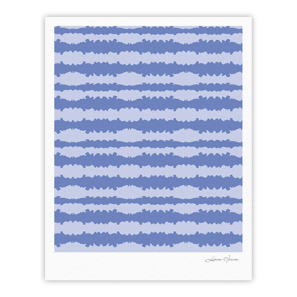 "Mydeas ""Nautical Breeze - Ocean Ripple"" Blue Aqua Fine Art Gallery Print - KESS InHouse"
