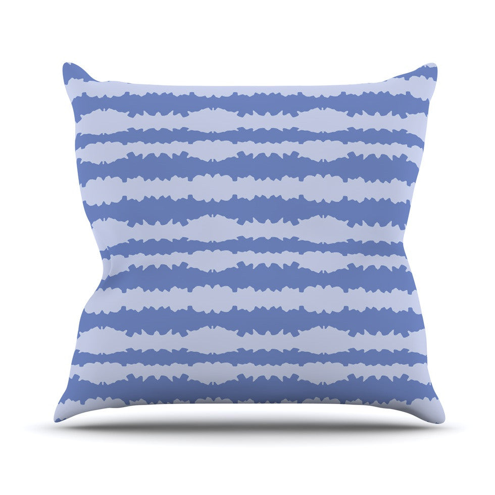 "Mydeas ""Nautical Breeze - Ocean Ripple"" Blue Aqua Outdoor Throw Pillow - KESS InHouse  - 1"
