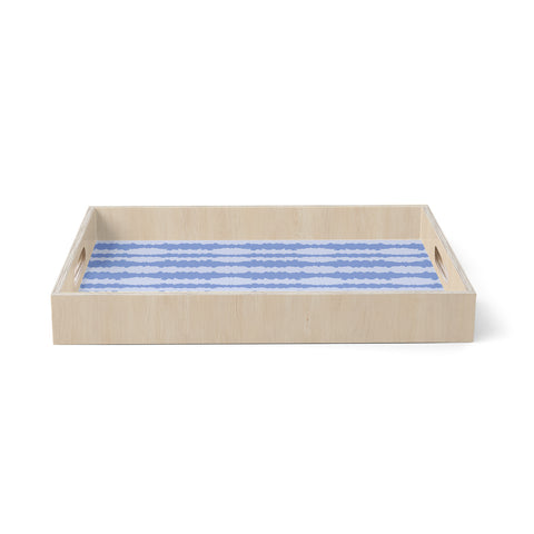"Mydeas ""Nautical Breeze"" Blue Aqua Birchwood Tray"