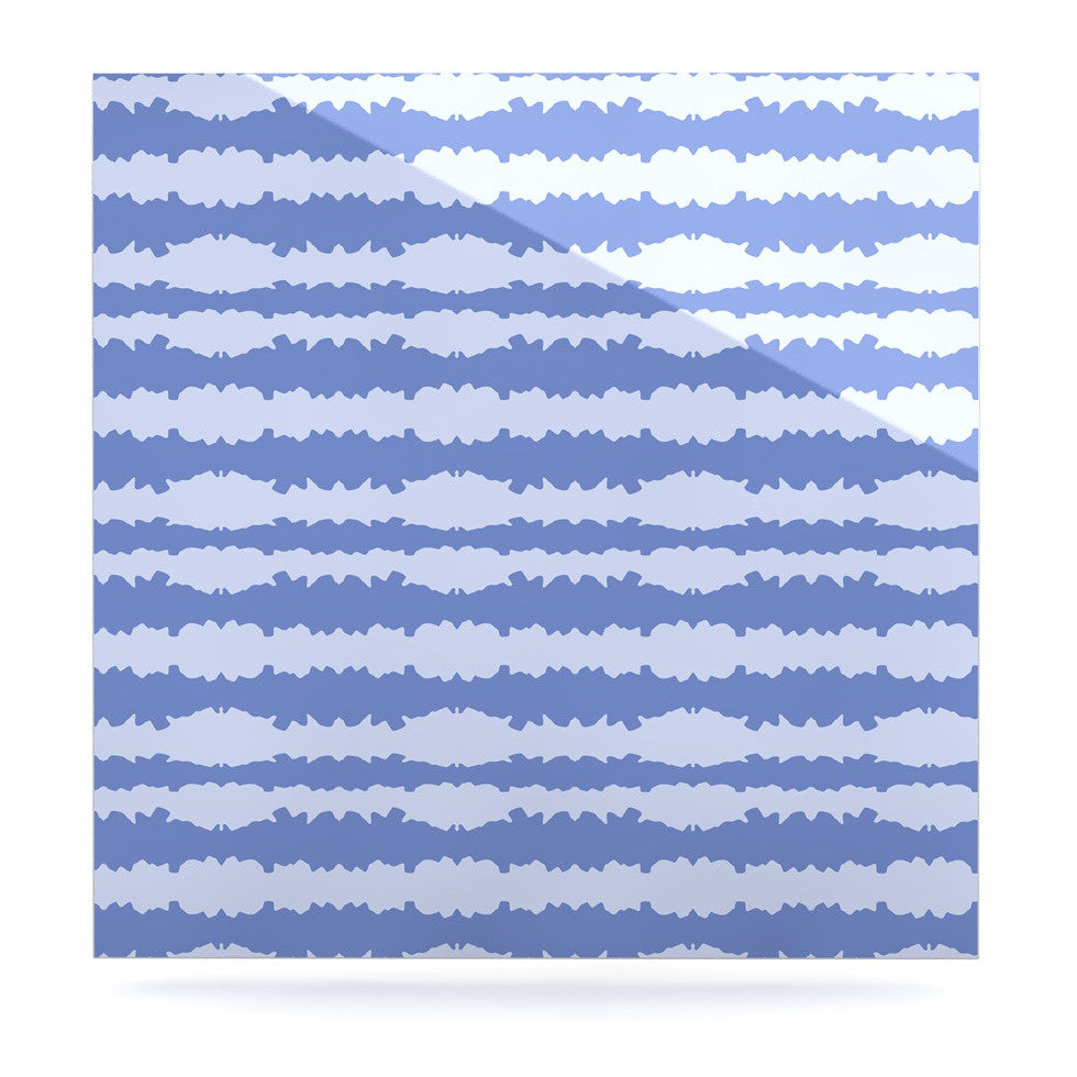 "Mydeas ""Nautical Breeze - Ocean Ripple"" Blue Aqua Luxe Square Panel - KESS InHouse  - 1"