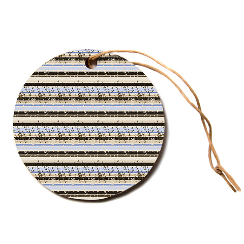 "Mydeas ""Nautical Breeze Sandy"" Tan Blue Circle Holiday Ornament"