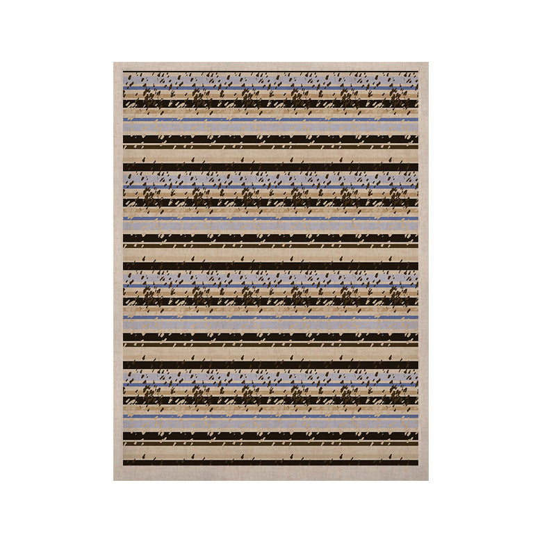 "Mydeas ""Nautical Breeze - Sandy Stripes"" Tan Blue KESS Naturals Canvas (Frame not Included) - KESS InHouse  - 1"
