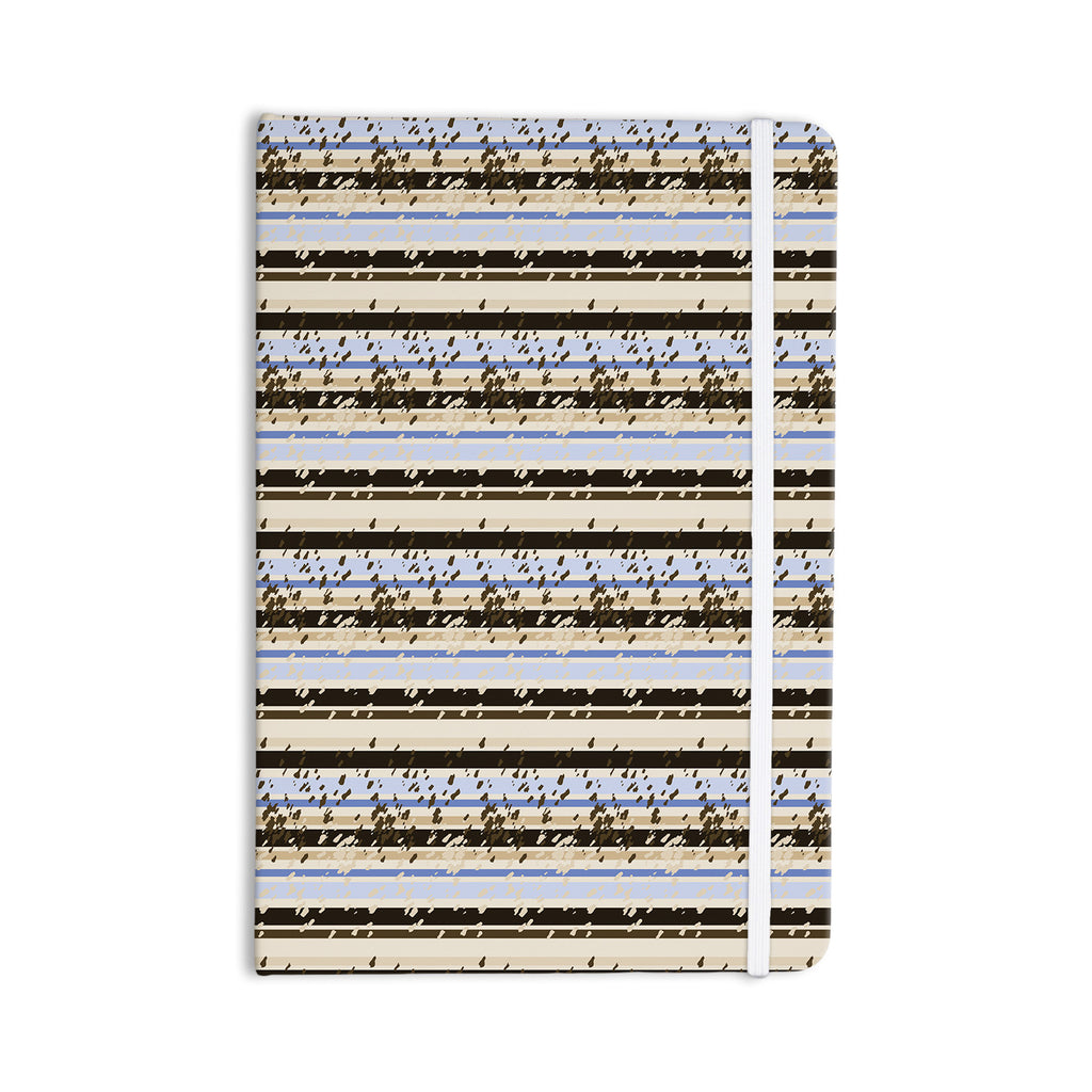 "Mydeas ""Nautical Breeze - Sandy Stripes"" Tan Blue Everything Notebook - KESS InHouse  - 1"