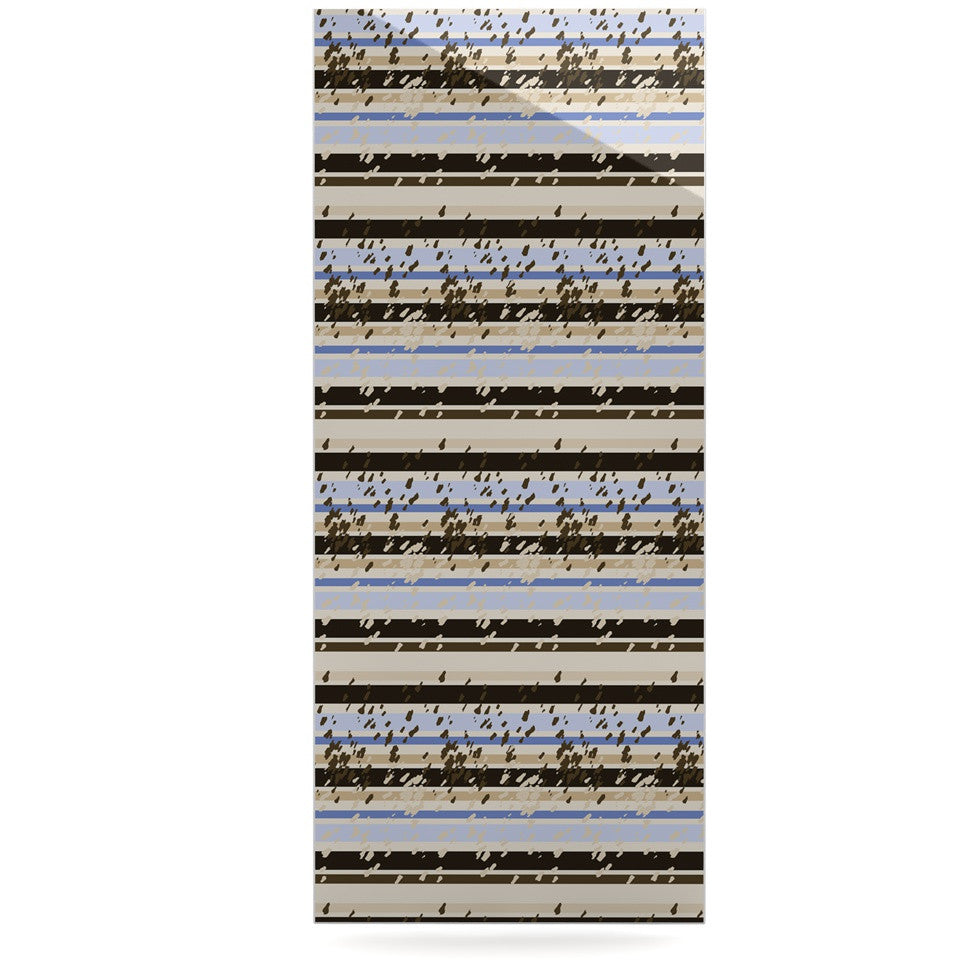 "Mydeas ""Nautical Breeze - Sandy Stripes"" Tan Blue Luxe Rectangle Panel - KESS InHouse  - 1"