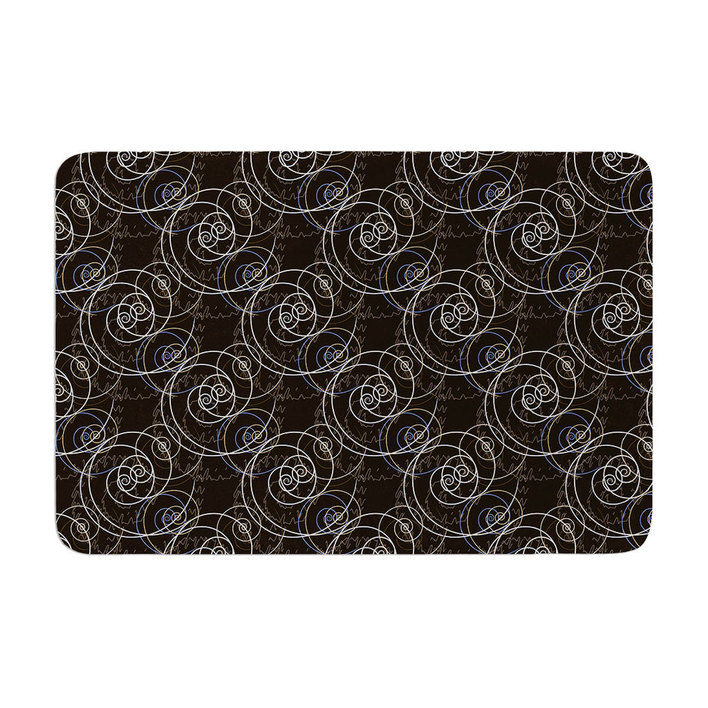"Mydeas ""Nautical Breeze - Spiral Swirls"" Brown Pattern Memory Foam Bath Mat - KESS InHouse"